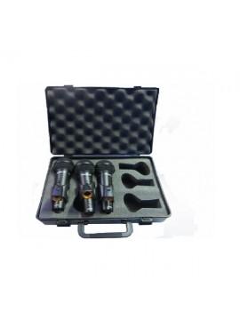 Microfone dinâmico PROEL Cardioide em Kit 3uns.
