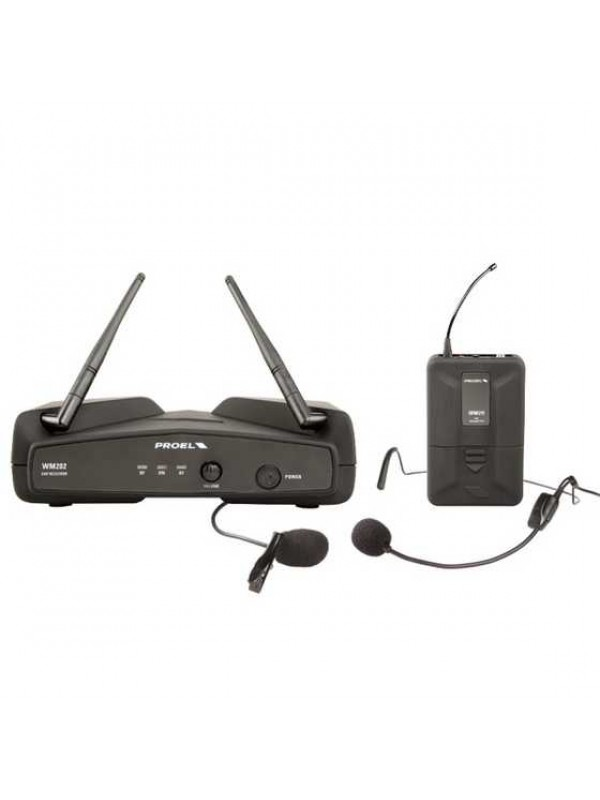 Sistema PROEL simples Headset s/ fio UHF