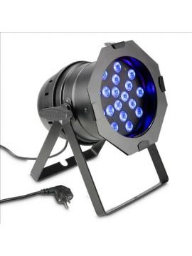 Projector LED PAR64 RGB 18x3w Black