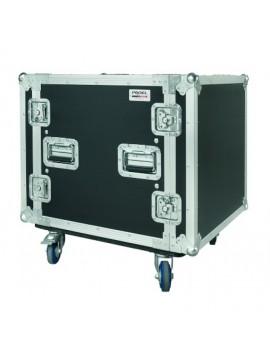 Rack PROEL 10U c/ anti-shock e rodas 500mm Prof