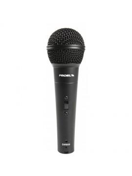 PACK Microfone dinâmico PROEL Cardioide +5M XLR