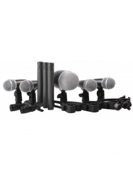 Kit 5 Microfones PROEL para bateria em estojo