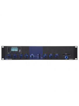 Amplificador PROEL c/ 4 Mic., 2 Aux. e Reprodutor