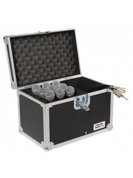 Rack PROEL p/ 9 Micros e cabos