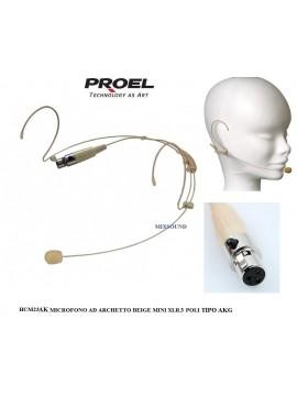 Microfone Headset PROEL Condens. Omni. Mini Xlr3